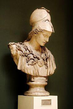 Cast of Colossal Bust of Athena Velletri. original : Greek 450-400 BCE. Glyptothek. Munich. Germany. QUEST FOR BEAUTY