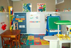 Creative Craft Space for Kids - storage for paints, coloring, kitchen station and more!