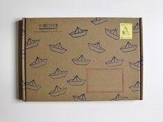 Sailboat stamps, return address and blank address box