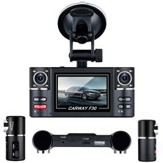 F30 DVR Double lens 2.7'' HD TFT Car Camera Night Vision Car DVRs Windshield Driving Camcorder Video Recorder Rear View