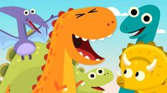 "Learn five different species of dinosaurs the Little Dinosaurs"" counting song by Super Simple Songs. Dinosaur Songs For Kids, Dinosaur Videos, Dinosaur Theme Preschool, Fun Songs, Kids Songs, Preschool Arts And Crafts, Preschool Music, Spanish Lessons For Kids, Sharks For Kids"