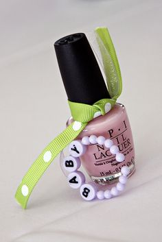 Greatest idea ever!! baby shower party favor: OPI - It's a girl -- for party game winners. This and other sets of pink nail polishes
