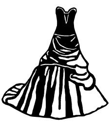 wedding dress clipart free clipart best siluete pinterest rh pinterest com wedding dress clip art silhouettes wedding dress clipart black and white