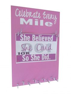 New bibs & Medals Hanger - Celebrate Every Mile - race bib display - gifts for runners - running gift only at $27.99