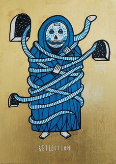 SuperBlast is a German street artist and graphic designer best known for his cyan blue skull-faced icons combined with religious symbols. Berlin, Religious Symbols, Don't Panic, Street Artists, Online Art, Spiderman, Graffiti, Contemporary Art, Urban