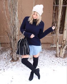 Also for an inexpensive substitute for the Stuart Weitzman over the knee shoes. Stuart Weitzman, Ootd, Sweaters, Dresses, Fashion, Gowns, Moda, La Mode, Pullover