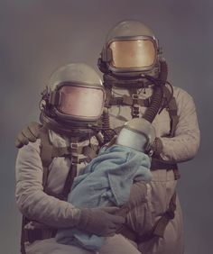 designersof:  Astronaut family portrait I made for a music video.  Video can be seen here. ————————get your work featured by submitting it to designersof.com