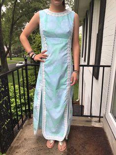 Vintage Lilly Pulitzer Original Dress, Blue Pastel Print | eBay Colourful Outfits, Colorful, Maxi Dresses, Summer Dresses, Neck Designs For Suits, Cotton Shirt Dress, Summer Design, Body Mist, Indian Designer Wear