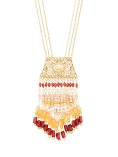 Bead Tassel Pendant Necklace by Leslie Danzis at Gilt