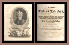 This rare 1841 book is the first time that Josephus was printed in German in the United States.  A wonderful job of printing. The book has some marvelous full page steel plate engravings.
