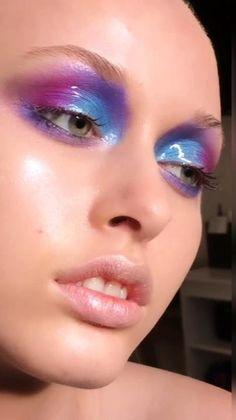 Purple Eye Makeup, Edgy Makeup, Glamour Makeup, Eye Makeup Art, Cute Makeup, Pretty Makeup, Makeup Inspo, Makeup Inspiration, Makeup Looks