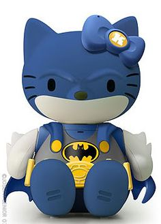Batman Hello Kitty... OMG, another one. I think these are so cute! Ugh! My inner nerd has been revealed. Kind of obvious when I have a Geek and Dork Culture Board...