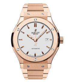 Hublot montre Classic Fusion King Gold Opalin http://www.vogue.fr/joaillerie/shopping/diaporama/montres-or-rose-ete/19075/image/1007169#!hublot-montre-classic-fusion-king-gold-opalin