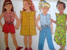 BUTTERICK Sewing Pattern 5020 - CHILDS 1,2,3 DRESS TOP SHORTS PANTS