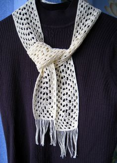 wikiHow to Crochet a Granny Rectangle Scarf -- via wikiHow.com; In slender thread, this pattern makes an elegant, lightweight scarf