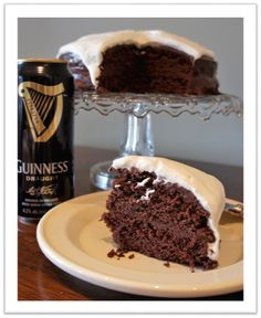 "Indulge in a delicious ""Chocolate Stout Cake""!"