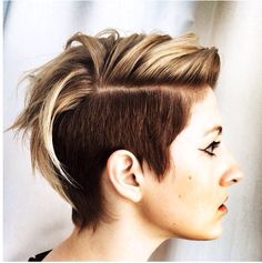 Multi-colored undercut