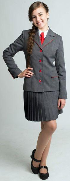 Russia Girl Dressed In Formal School Uniform