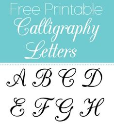 Free printable calligraphy letters are useful for a myriad of projects for school, crafts, scrapbook Free Printable Letter Stencils, Free Printable Alphabet Letters, Free Stencils, Templates Printable Free, Free Printables, Stencil Templates, Alphabet Templates, Alphabet Stencils, Letter Stencils To Print