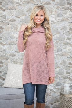 This lightweight sweater is perfect for transitioning into chilly winter days!