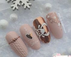 Snow Nails, Xmas Nails, Holiday Nails, Winter Nails, Christmas Nails, Best Acrylic Nails, Acrylic Nail Designs, Stylish Nails, Trendy Nails