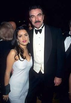 Salma Hayek With Tom Selleck at the 'Sinatra: 80 Years My Way' Birthday Celebration on November 19, ... - evin Mazur Archive/WireImage
