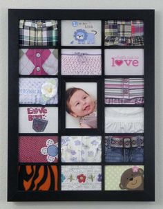 So pretty. Made out of old baby clothes.