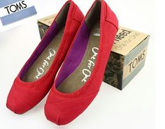 Toms Ballet Flats Red Canvas : Toms Outlet Shoes Online, Cheap toms shoes on sale,toms outlet online,toms outlet shoes save with 70% and 100% quality guarantee!