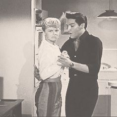 Elvis and Laurel Goodwin dancing tango in Girls! Girls! Girls!, 1962. Little Elvis made an appearance in this scene...LOL