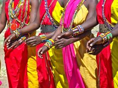 Young Maasai women - sisterhood is an important component of the rite of passage ceremony