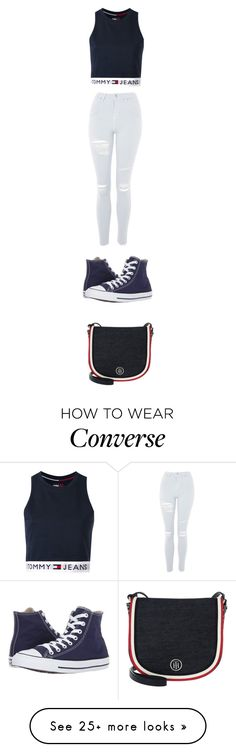 """Tommy girl"" by jennifer1105 on Polyvore featuring Tommy Hilfiger, Topshop and Converse"