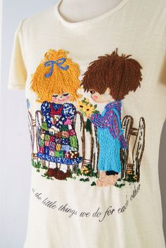 1970s embroidered t-shirt
