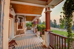 Beautiful porch with great wood details on ceiling and pillars - 483 Pine Hollow Rd, Stevensville, MT 59870 | MLS #20155772 - Zillow