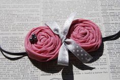 Antique Pink Rosette Headband Spring & by TheCraftyEuropean, $10.00