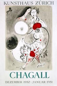 Marc Chagall - Le coq gris(1950)