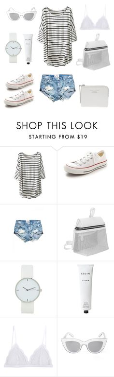 """When in doubt wear stripes"" by fashionlandscape ❤ liked on Polyvore featuring Converse, Kara, Rodin Olio Lusso, Cosabella, BCBGMAXAZRIA, Acne Studios, women's clothing, women, female and woman"