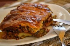 MUSAKAS (without eggplant frying) - . - MUSAKAS (without eggplant frying) – recipe (without the extra trouble of frying the egg - Cookbook Recipes, Meat Recipes, Cooking Recipes, Food Network Recipes, Food Processor Recipes, Mousaka Recipe, The Kitchen Food Network, Passionfruit Recipes, Easy Food To Make