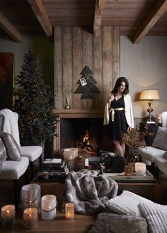 Riverdale Christmas Collection 2014 A Magical Movie around the #Fireplace! #Christmasdecoration as #Riverdale #Lightholders, #Candlesticks & Candles, #Christmasgifts & #ChristmasTree!