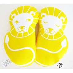 Yellow Lion  PaaPii Design  (Make it from IKEA fabric and use a plastic box with beads inside as rattle)