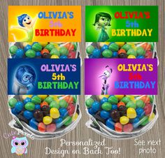 Inside Out Bag Toppers Inside Out Treat bags Inside by CutePixels