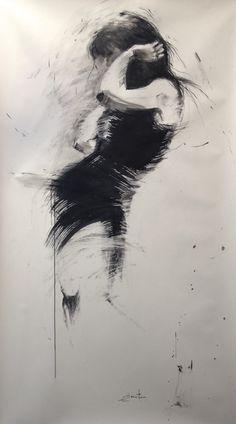 ewa hauton ink on paper 150x95cm