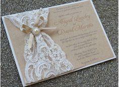 Lace Wedding Invite