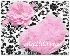 NEW Photo Prop Set  Pink BLOOMER and Matching by my2lilpixies, $18.95