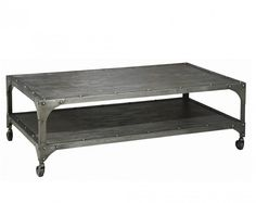 Fresh Industrial Metal and Wood Coffee Table. www.dixib.com