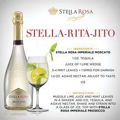 Stella Rosa original recipe: Stella Rosa Stella-rita-jito, with Stella Rosa Imperiale Moscato. For more of our signature specialties, visit http://stellarosawines.com/