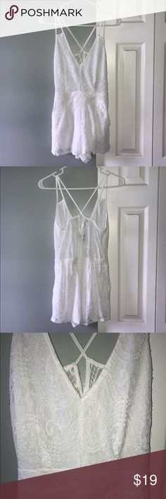 Kendall & Kylie romper White lace romper. Excellent condition. Kendall & Kylie Other