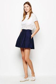 Buy the Clarke Pleated Jacquard Skirt from Jack Wills. British Style, Skater Skirt, High Waisted Skirt, Mini Skirts, Mens Fashion, Jack Wills, Shopping, Women, Moda Masculina
