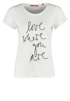 s.Oliver Tshirt z napisem Love where you are creme