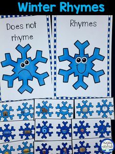 Winter Rhyming Game for Pre-K and Kindergarten.