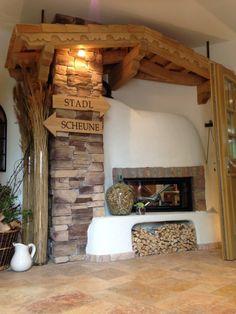 Rustikaler Heizkamin In Der Villa Vita Pamhagen Burgenland Gebaut Von Kachelofen Kamine Fliesen Ullrich Aus